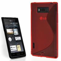 LG Optimus L7 P700/ P705: Accessoire Housse Etui Pochette Coque S silicone gel - ROUGE