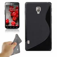 LG Optimus L7 II P710/ L7X P714: Accessoire Housse Etui Pochette Coque S silicone gel - NOIR