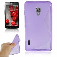 LG Optimus L7 II P710/ L7X P714: Accessoire Housse Etui Pochette Coque S silicone gel - VIOLET