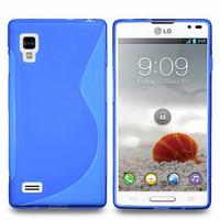 LG Optimus L9 P760/ P765/ P768: Accessoire Housse Etui Pochette Coque S silicone gel - BLEU
