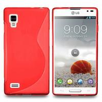 LG Optimus L9 P760/ P765/ P768: Accessoire Housse Etui Pochette Coque S silicone gel - ROUGE