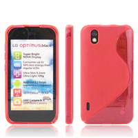 LG Optimus Black P970/ SCHWARZ: Accessoire Housse Etui Pochette Coque S silicone gel - ROSE