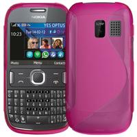 Nokia Asha 302: Accessoire Housse Etui Pochette Coque S silicone gel - ROSE
