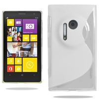 Nokia Lumia 1020: Accessoire Housse Etui Pochette Coque S silicone gel - BLANC