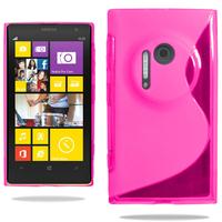 Nokia Lumia 1020: Accessoire Housse Etui Pochette Coque S silicone gel - ROSE