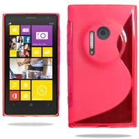 Nokia Lumia 1020: Accessoire Housse Etui Pochette Coque S silicone gel - ROUGE