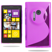Nokia Lumia 1020: Accessoire Housse Etui Pochette Coque S silicone gel - VIOLET