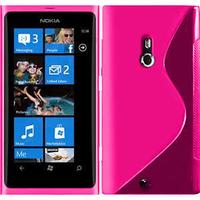 Nokia Lumia 800: Accessoire Housse Etui Pochette Coque S silicone gel - ROSE