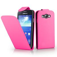Samsung Galaxy Ace 3 S7270 S7272 S7275 LTE: Accessoire Etui Housse Coque Pochette simili cuir - ROSE