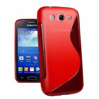 Samsung Galaxy Core I8260/ I8262 Dual Sim: Accessoire Housse Etui Pochette Coque S silicone gel - ROUGE
