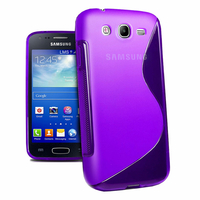 Samsung Galaxy Core I8260/ I8262 Dual Sim: Accessoire Housse Etui Pochette Coque S silicone gel - VIOLET