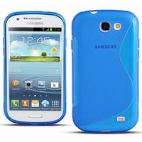 Samsung Galaxy Express I8730: Accessoire Housse Etui Pochette Coque S silicone gel - BLEU