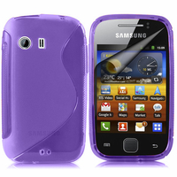 Samsung Galaxy Y Neo GT-S5360 S5369i: Accessoire Housse Etui Pochette Coque S silicone gel - VIOLET