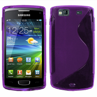 Samsung Wave 3 S8600: Accessoire Housse Etui Pochette Coque S silicone gel - VIOLET