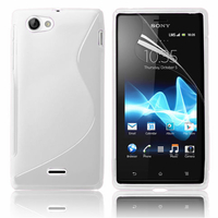 Sony Xperia J St26i: Accessoire Housse Etui Pochette Coque S silicone gel - BLANC