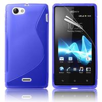 Sony Xperia J St26i: Accessoire Housse Etui Pochette Coque S silicone gel - BLEU