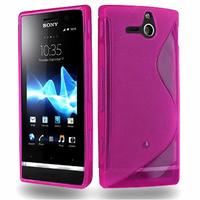 Sony Xperia U St25i: Accessoire Housse Etui Pochette Coque S silicone gel - ROSE