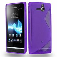 Sony Xperia U St25i: Accessoire Housse Etui Pochette Coque S silicone gel - VIOLET