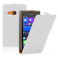 Nokia Lumia 735/ 730 Dual Sim: Accessoire Housse coque etui cuir fine slim - BLANC