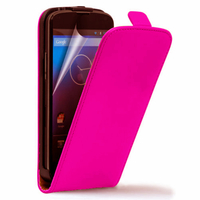 Google Nexus 4 E960/ Mako: Accessoire Housse coque etui cuir fine slim - ROSE