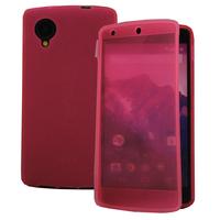 Google Nexus 5: Accessoire Coque Etui Housse Pochette silicone gel Portefeuille Livre rabat - ROSE