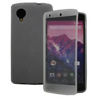 Google Nexus 5: Accessoire Coque Etui Housse Pochette silicone gel Portefeuille Livre rabat - TRANSPARENT