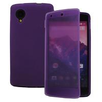 Google Nexus 5: Accessoire Coque Etui Housse Pochette silicone gel Portefeuille Livre rabat - VIOLET