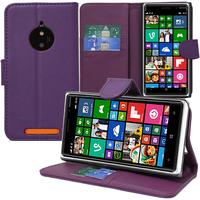 Nokia Lumia 830 RM-984: Accessoire Etui portefeuille Livre Housse Coque Pochette support vidéo cuir PU - VIOLET