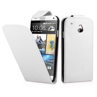 HTC One Mini M4/ 601/ 601e/ 601n/ 601s: Accessoire Etui Housse Coque Pochette simili cuir - BLANC