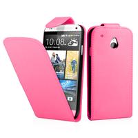 HTC One Mini M4/ 601/ 601e/ 601n/ 601s: Accessoire Etui Housse Coque Pochette simili cuir - ROSE
