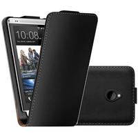 HTC One Mini M4/ 601/ 601e/ 601n/ 601s: Accessoire Housse coque etui cuir fine slim - NOIR