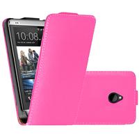 HTC One Mini M4/ 601/ 601e/ 601n/ 601s: Accessoire Housse coque etui cuir fine slim - ROSE