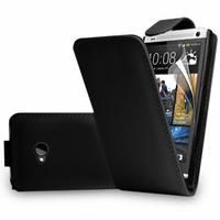 HTC One M7: Accessoire Etui Housse Coque Pochette simili cuir - NOIR