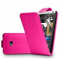 HTC One M7: Accessoire Etui Housse Coque Pochette simili cuir - ROSE