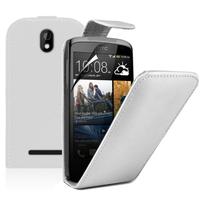 HTC Desire 500/ Dual Sim: Accessoire Etui Housse Coque Pochette simili cuir - BLANC