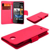HTC Desire 601 Zara/ Dual Sim: Accessoire Etui portefeuille Livre Housse Coque Pochette cuir PU - ROUGE