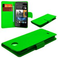 HTC Desire 601 Zara/ Dual Sim: Accessoire Etui portefeuille Livre Housse Coque Pochette cuir PU - VERT