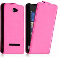 HTC Windows Phone 8S: Accessoire Housse coque etui cuir fine slim - ROSE