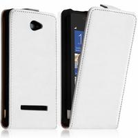 HTC Windows Phone 8X: Accessoire Housse coque etui cuir fine slim - BLANC