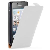 Huawei Ascend Y300: Accessoire Housse coque etui cuir fine slim - BLANC