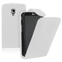 LG Optimus L7 II P710/ L7X P714: Accessoire Etui Housse Coque Pochette simili cuir - BLANC