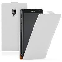 LG Optimus L7 II P710/ L7X P714: Accessoire Housse coque etui cuir fine slim - BLANC