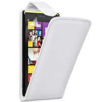 Nokia Lumia 1020: Accessoire Etui Housse Coque Pochette simili cuir - BLANC