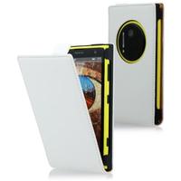 Nokia Lumia 1020: Accessoire Housse coque etui cuir fine slim - BLANC