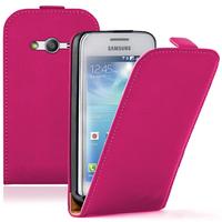 Samsung Galaxy Ace 4 Style LTE SM-G357FZ: Accessoire Housse coque etui cuir fine slim - ROSE