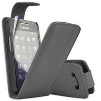 Samsung Galaxy Ace Plus S7500: Accessoire Etui Housse Coque Pochette simili cuir - NOIR