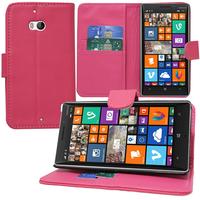 Nokia Lumia 930: Accessoire Etui portefeuille Livre Housse Coque Pochette support vidéo cuir PU - ROSE