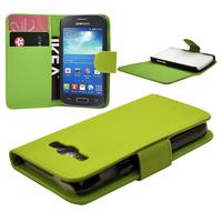 Samsung Galaxy Ace 3 S7270 S7272 S7275 LTE: Accessoire Etui portefeuille Livre Housse Coque Pochette cuir PU - VERT