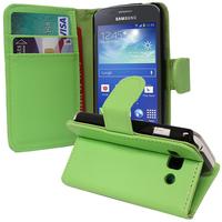 Samsung Galaxy Ace 3 S7270 S7272 S7275 LTE: Accessoire Etui portefeuille Livre Housse Coque Pochette support vidéo cuir PU - VERT