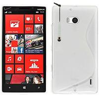 Nokia Lumia 930: Accessoire Housse Etui Pochette Coque S silicone gel + mini Stylet - BLANC